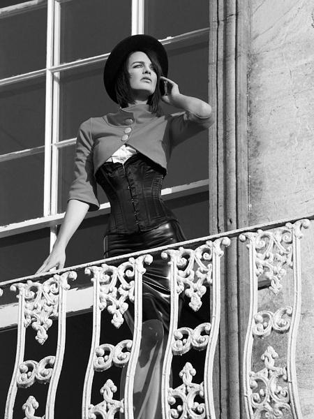 I'm on the balcony...