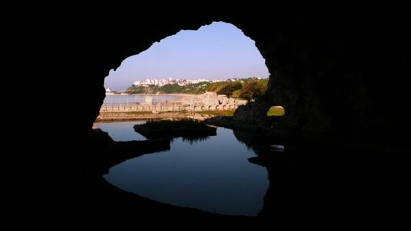 Sperlonga, Italy from the Grotta di Tiberio by navigatornick