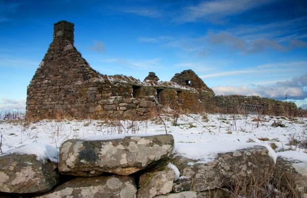 winter ruin North Uist by jdgrimsay