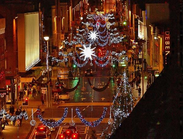 Xmas lights in limerick by cjlar