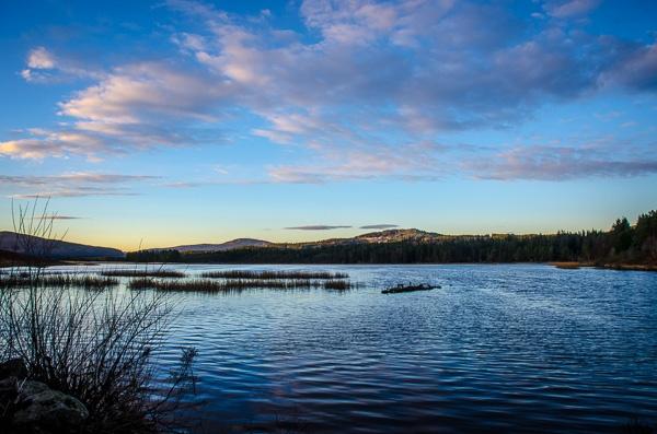 Loch Stroan at dusk