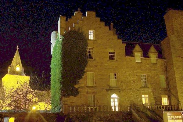 Dornoch Castle Hotel by night by harky2402
