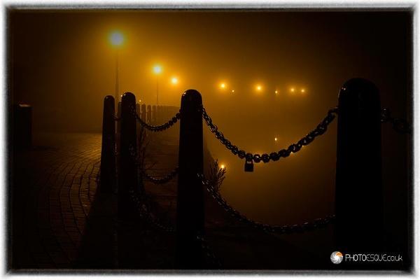 Foggy Bollards by adonoghue