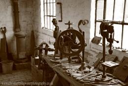 Old locksmiths workbench