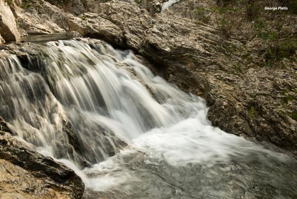 """Waterfall at \""""7 Springs\"""" in Rhodes by GeorgePlatis"""
