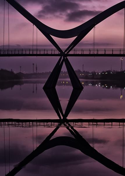 Infinity Bridge Detail Stockton on Tees by llareggub