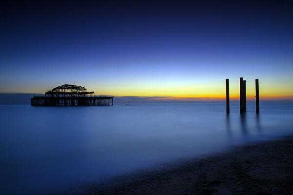 Brighton Pier at Last Light by TimJ