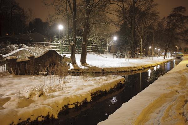 Night Lights & Snow by jembo
