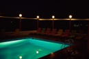 Hotel pool in Crete at night