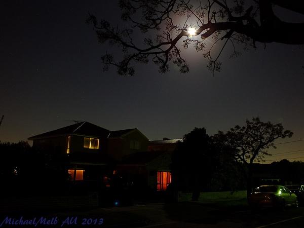 Moonlight in suburbia