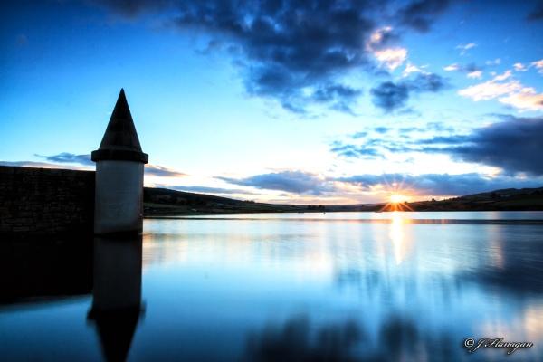 Grassholme Reservoir sunset. by John10