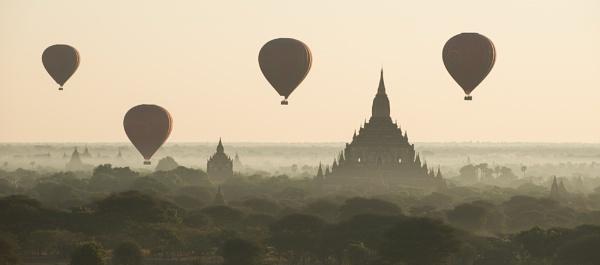 Sunrise over Bagan - Burma by Nick_Hilton