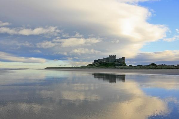 Bamburgh Castle Beach by robsherrattdesign