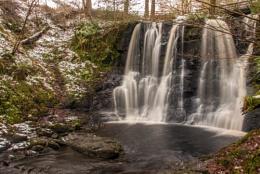 Glenarrif Waterfall in winter