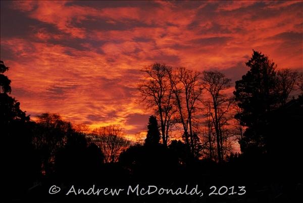 Flaming Sunrise by andymcdonald