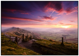 sunrise at mam tor