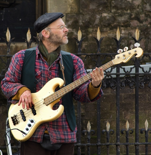 The Watermelons - Busking Bass, Cardiff, 2013 by Rhedwr