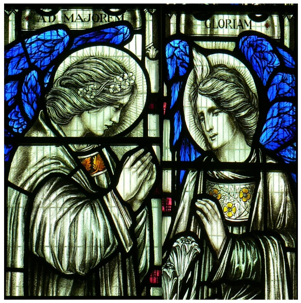 2 stained glass from Tibberton Church Gloucestershire by graceland