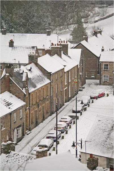 Snowy Side Street
