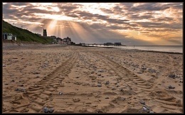 Cromer Beach at Sunset