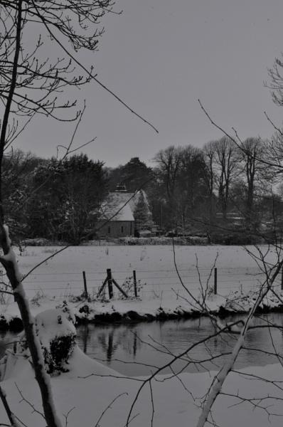 Milston Church in the snow by LibKerr4