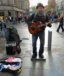 One Man Band - Busking In Manchester