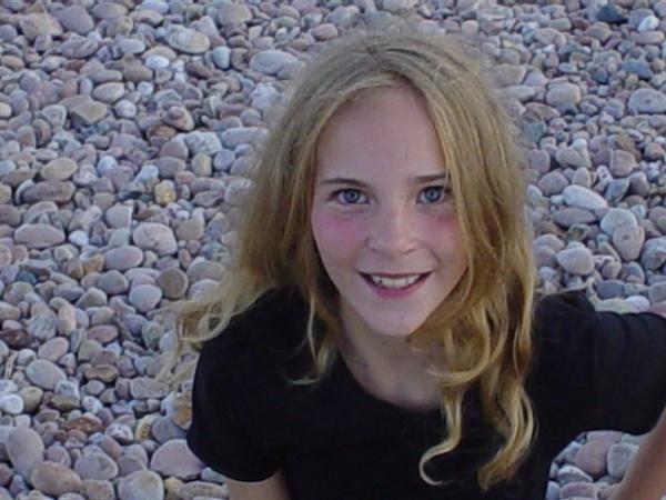 Chloe on Sidmouth Beach - 8 years earlier by DaveNib