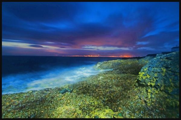 Night lights,Penmon point by Metty