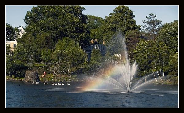 Fountain Rainbow by JimV