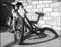 Flat tyre shadow