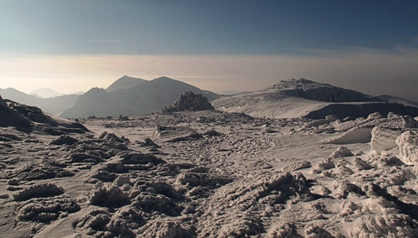 Glyderau looking over to Snowdon in the snow by wynn469