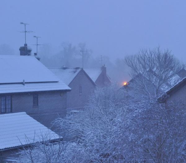 Snowy roof tops. by LibKerr4