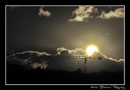 The bright sun comes up