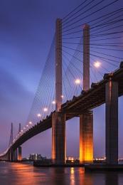QE2 Bridge Twilight