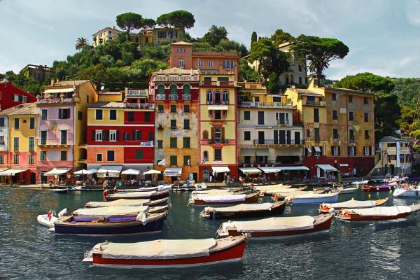 Portofino harbour Italy by bobsblues