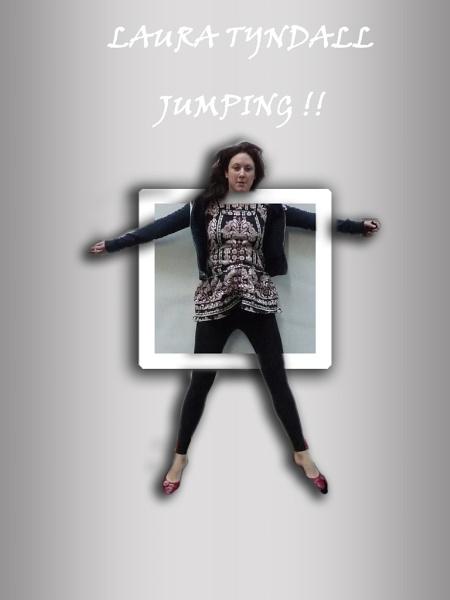 Laura Jumping through a frame by Chrisjaz