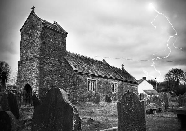 St Illtyds Church, Brynithel, South Wales by Rhedwr