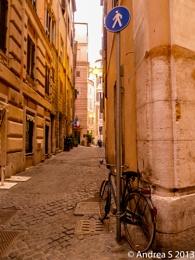 Rome- walking, not riding
