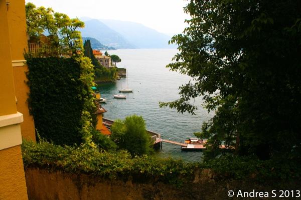 Italy- bay glimpse, Varenna by AndreaJean