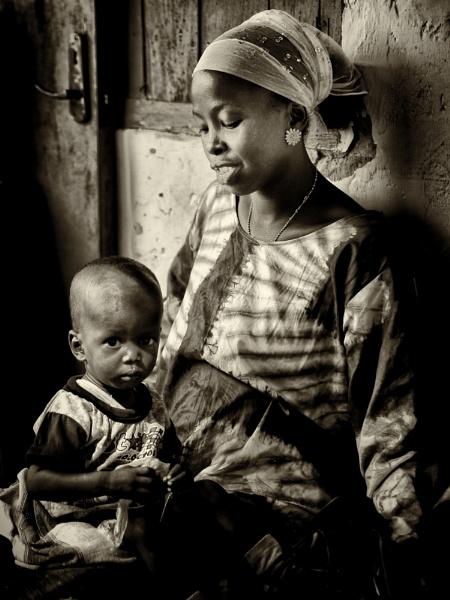 Gambian Villagers by stevewlb