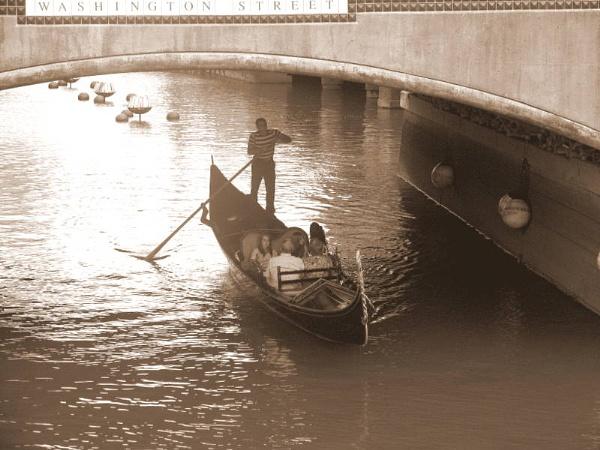 ~ Gondola under the Bridge (Sepia) by LexEquine