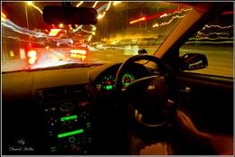 Night drive in town