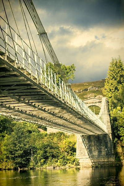 Suspension Bridge over the River Oich in Argyle & Bute, Scotland by NH_Snap