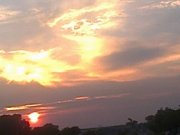 sun rise in the vaal(south africa)