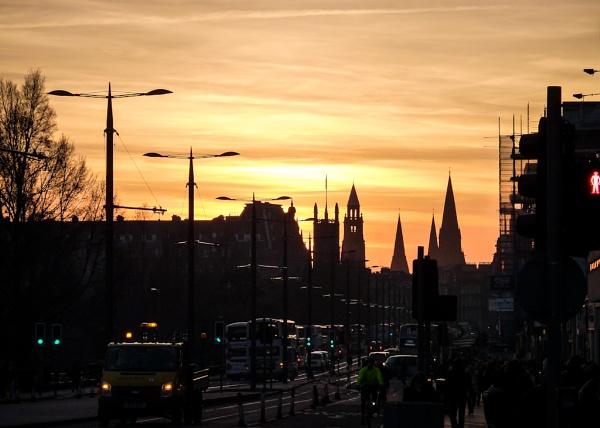 Princes Street Sunset by ajm