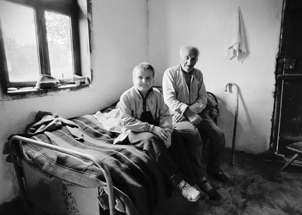 Grandfather and grandson by GoranStamenkovic