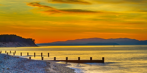 FINDHORN - CROMARTY SUNSET by JASPERIMAGE