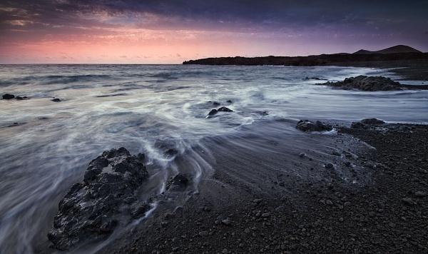 Lava Beach, Lanzarote. by derekhansen