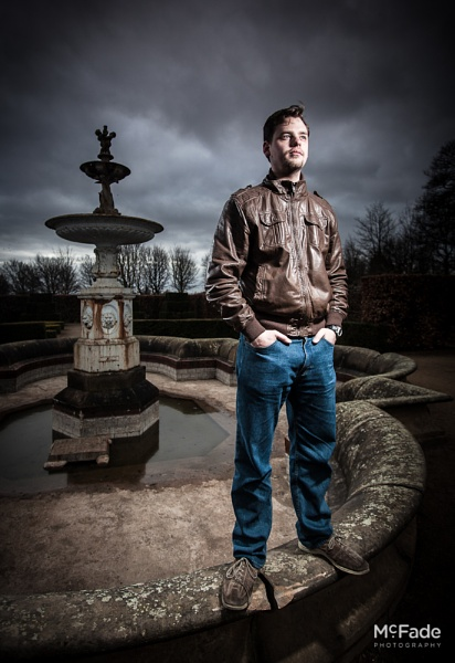 Chris on a Fountain by ade_mcfade