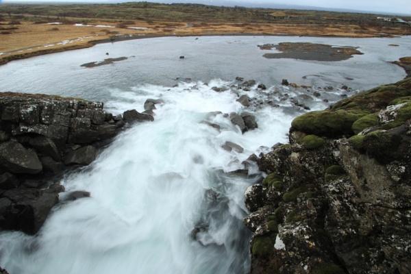 Waterfall at the Thingvellir National Park, Pingvellir, Iceland - UNESCO World Heritage Site by gphussey